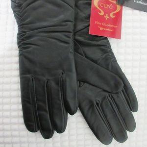 Grandoe Sensor Touch Cashmere Leather Gloves
